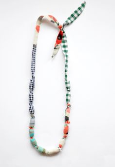 bead/cloth necklace