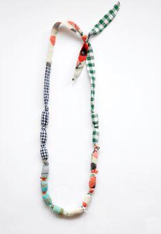 bead/cloth necklace