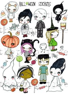 halloween stickers $5