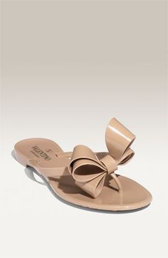 Valentino Couture Bow Thong Sandal
