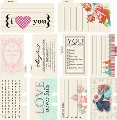 Lily Bee Design - Head Over Heels Collection - Journal Cards