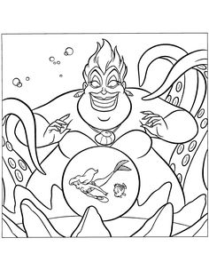 DISNEY COLORING PAGES URSULA THE LITTLE MERMAID COLORING