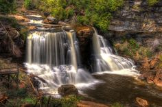 Start your trip at Blackwater Falls State Park.