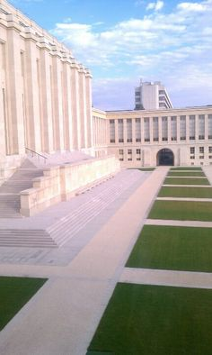 Courtyard of United Nations in Geneva, Switzerland