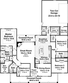 Open concept/split floor plan. Would want to add a family room to it