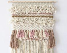 Weaving for Girls Nursery Modern Woven Wall Hanging por EastParlor