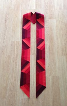 Red Clergy Stole for Pentecost Reformation or by LHfabricArtist
