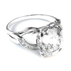 18 Kt White gold cushion diamond engagement ring. Contact Now for Wholesale Price!