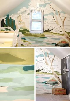 DIY Murals • Ideas and Tutorials! Including this diy paint by number mural from 'katie's pencil box'.