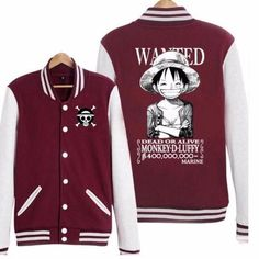 One Piece Baseball Jacket (Coat) AN ANIMETEEZ EXCLUSIVE!!! Regular Price: $85.99 We truly love our hero and want you to support him too so..... BY PLACING AN ORDER TODAY WE WILL GIVE YOU THIS PRODUCT
