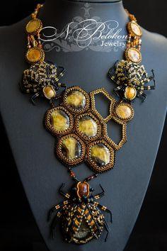 Медово пчелиное колье - Ярмарка Мастеров - ручная работа, handmade