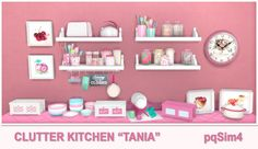 Tania Kitchen Clutter. Sims 4 Custom Content. ~ pqSim4
