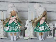Muñeca suave decoración muñeca colores blanco por AnnKirillartPlace