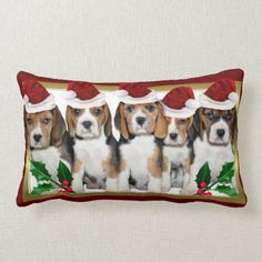 Christmas Beagle  puppies lumbar pillow  beagle shirt, shina inu puppy, beagle quotes #cats #animals #love, back to school, aesthetic wallpaper, y2k fashion Beagle Art, Baby Beagle, Beagle Funny, Beagle Puppies, Dog Table, Cute Beagles, Christmas Animals, Christmas Stuff, Christmas Eve