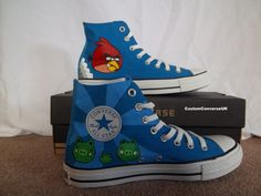 My son would love this! Angry Birds Converse All Stars