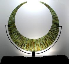 Banded Crescent by George Scott: Art Glass Sculpture available at www.artfulhome.com