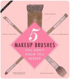One of the most important things to remember about makeup is to blend! Whether you're contouring, using blush or eyeshadow... there's 5 makeup brushes you may not know you need (but you do, trust us.)
