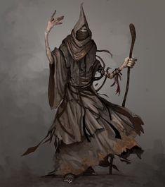 As ilustrações e artes conceituais de personagens de fantasia de Todd Ulrich Fantasy Armor, Dark Fantasy, Supernatural, Humanoid Creatures, Necromancer, Fantasy Characters, Character Design, Character Reference, Mystery