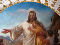 Portraits of Jesus The Children's Friend by ChinaGalore on Etsy, $17.50
