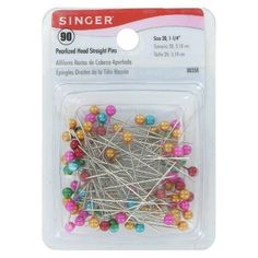 Singer 90-pk Pearl Straight Pins