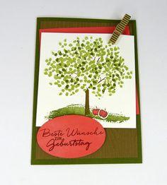 Stampin up, Karte zum Geburtstag, Baum der Freundschaft, Stempelitis