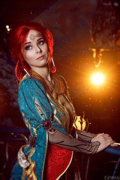 The Witcher | Triss Merigold cosplay by Dzikan.deviantart.com on @DeviantArt