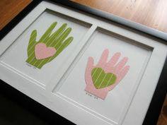 sweet handprint art