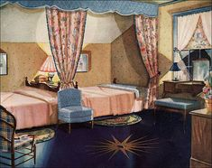 1930 Armstrong Linoleum Ad - Bedroom | by American Vintage Home