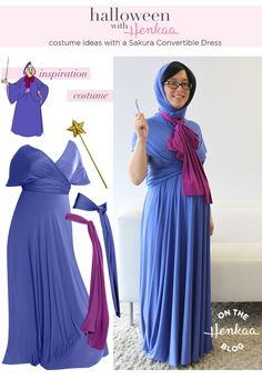 Disney Fairy Godmother inspired costume - great Halloween ideas with a convertible dress that work for maternity too!A Disney Fairy Godmother inspired costume - great Halloween ideas with a convertible dress that work for maternity too! Costume Halloween, Cinderella Halloween Costume, Diy Princess Costume, Pregnant Halloween Costumes, Creative Halloween Costumes, Adult Costumes, Halloween Ideas, Halloween 2018, Halloween Stuff