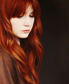 Copper red hair color with natural waves,love it so much