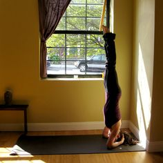 Great instructions for how to work your way to a Bound Headstand. I've tried it and I'm getting there!