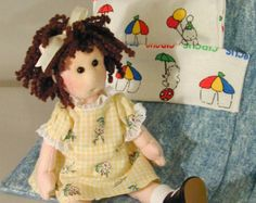 Cloth Doll Pattern - Jointed doll sewing - 9 inch Bitsy Buttons PDF