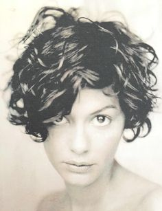 New hair short cuts curly audrey tautou ideas Curly Hair Styles, Curly Hair Cuts, Wavy Hair, Short Hair Cuts, New Hair, Pixie Cuts, Short Curly Pixie, Short Curly Haircuts, Wavy Bob Hairstyles