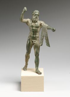 Bronze statuette of Neptune. Period: Early Imperial. Date: early 1st century A.D. Culture: Roman
