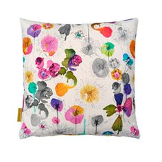 I don't think I've ever fallen in love with a fabric pattern the way I've fallen in love with this, Heal's Dahlia Cushion By Imogen Heath.  It was easily love at first sight.  (Now if only the pillow didn't cost about $91+ shipping from the UK!)