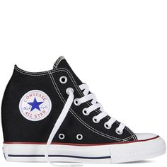 Chuck Taylor All Star Lux Wedge - Black - Mid