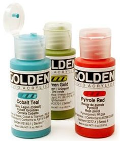 Golden Fluid Acrylfarbe 30ml.