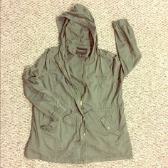 Forever 21+ Military Jacket In great condition! No tears or snags (strings have some minor wear). Looks great with booties and dark jeans. Will keep you warm. True to size. Bundle to save!  Forever 21 Jackets & Coats Utility Jackets