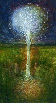 "Saatchi Online Artist: mark duffin; Acrylic, 2009, Painting ""wish tree"""