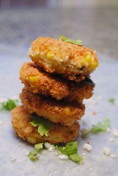 corn and chorizo fritters