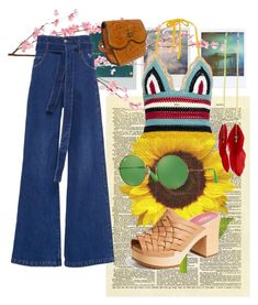 70s pt 3 by fatimaxmendez on Polyvore featuring polyvore, fashion, style, RED Valentino, Swedish Hasbeens, Ray-Ban, Pier 1 Imports, Polaroid and clothing