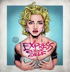 Tribute to the ultimate pop icon, a true living legend, the definition of reinvention, Madonna. I love Madonna - Express yourself Madonna Music, Madonna Art, Divas Pop, Madona, Popular People, Art Graphique, Girl Pictures, Madonna Pictures, Girl Pics