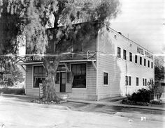 Hotel Burbank (aka The Senate Hotel), 1910. The hotel was built in 1876 for the railroad workers, so they would have a place to stay while working on the railroad. Sometime between 1957 and 1969, the hotel was renamed The Senate Hotel. In June of 1969 the owners of the hotel, Mr. and Mrs. Richard Madsen, had the hotel demolished to make way for the new home of the Swiss Dane Corporation, a sheet metal contracting firm. Burbank Historical Society. San Fernando Valley History Digital Library.