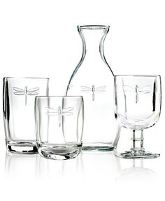 La Rochère Glassware, Dragonfly Sets of 6 Collection - Shop All Glassware & Stemware - Dining & Entertaining - Macy's