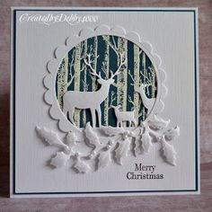 A Scrapjourney: Deer Stalking – Christmas Ideas – Happy Christmas :) Die Cut Christmas Cards, Christmas Paper Crafts, Homemade Christmas Cards, Xmas Cards, Christmas Greetings, Homemade Cards, Handmade Christmas, Christmas Deer, Holiday Crafts