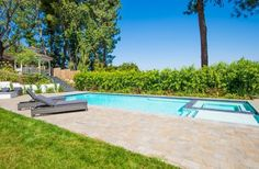 Marc Anthony's California home's backyard swimming pool