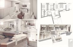 Vivienda en planta alta en la ciudad de Rosario. imagenes modeladas en Max renderizadas en Vray. Planos en AutoCad.