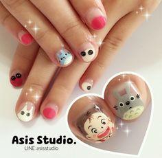 Totoro nails @asisstudio #totoro #ghibili