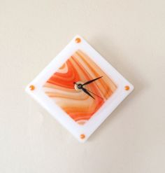 Fused Glass Clock Each stone was hand picked by the customer