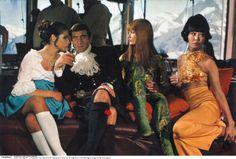 george lazenby kilt | James Bond mit seinen Girls 1968 auf dem fast 3000 Meter hohen Piz ...